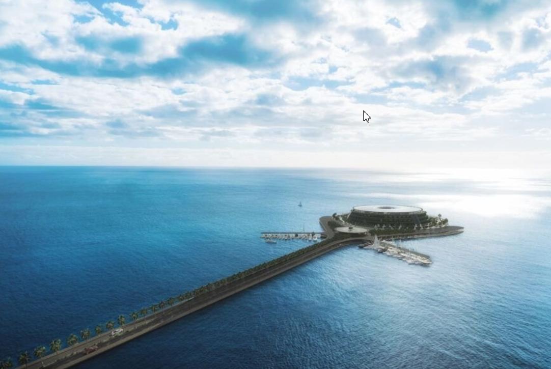 el futuro son los hoteles sostenibles como este que se proyecta en la costa de Qatar 7