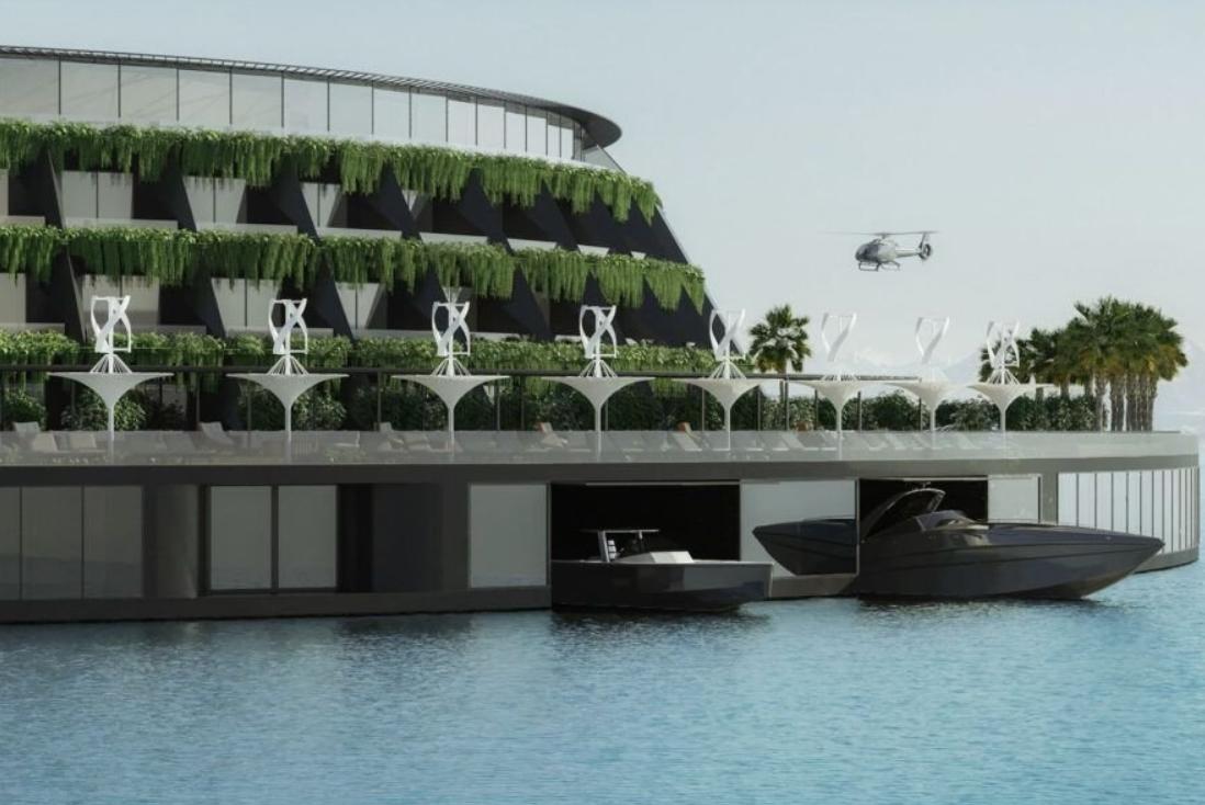 el futuro son los hoteles sostenibles como este que se proyecta en la costa de Qatar 16