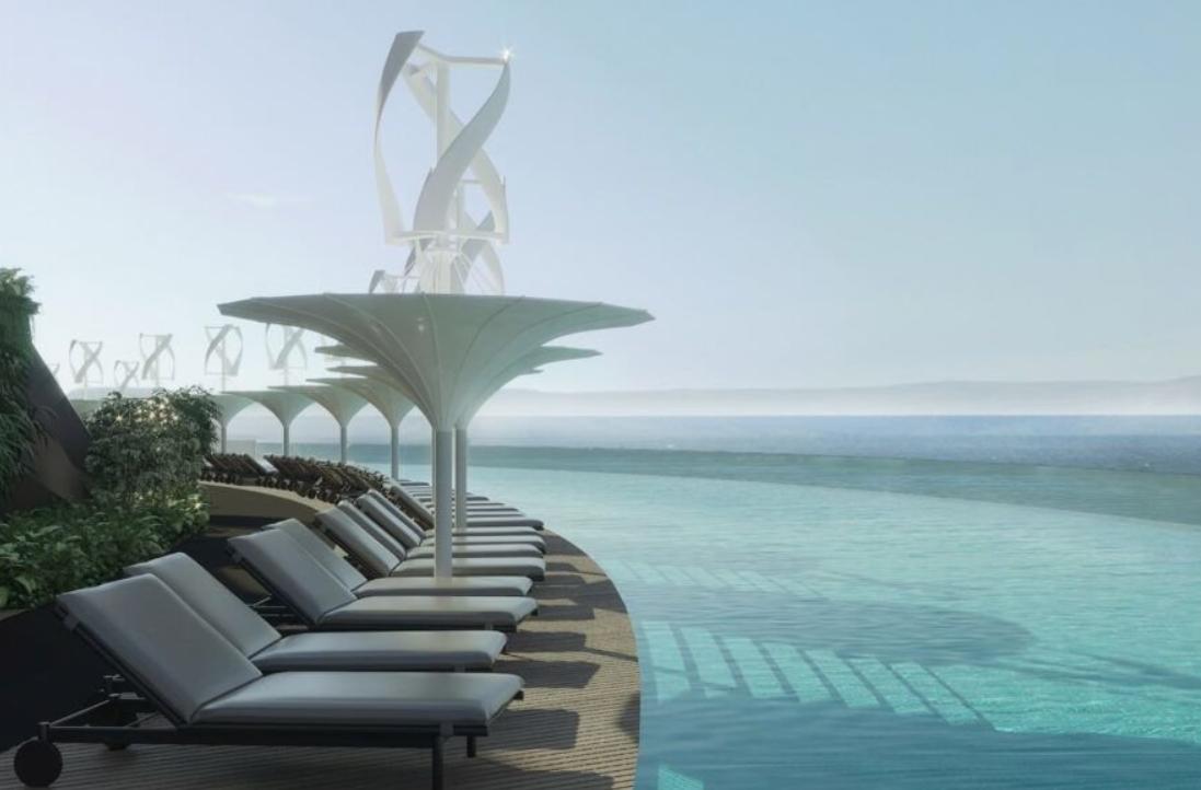 el futuro son los hoteles sostenibles como este que se proyecta en la costa de Qatar 5