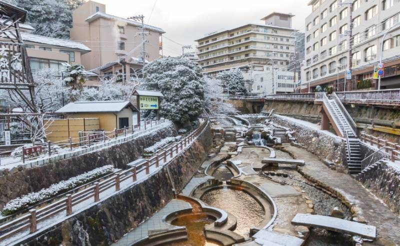 Arima Onsen - un centro turístico de aguas termales en el país nipón. 1