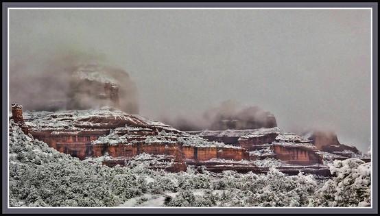 LA IMAGEN DEL DIA: Sedona, Arizona in the snow. 2