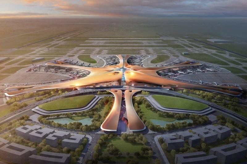 Mega aeropuerto de Zaha Hadid en China 2